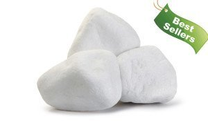Греческая белая галька мраморная
