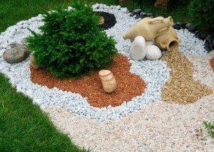 Декор сада цветной крошкой и гравием из Италии