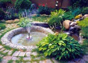 Искусственный фонтан и водопад из итальянского камня