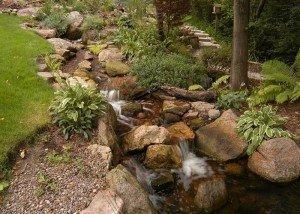 Декор парка из редкого камня и гравия из Италии