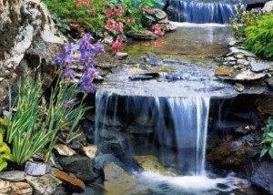 Водопад из редкого камня и порфира
