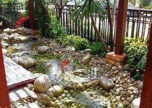 Искусственный водоем из камня из Италии
