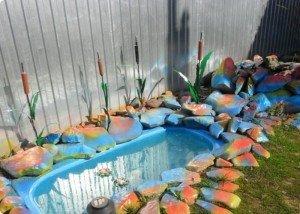 Декор из цветного редкого камня