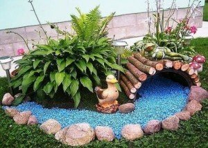 Декор из цветной крошки и натурального камня