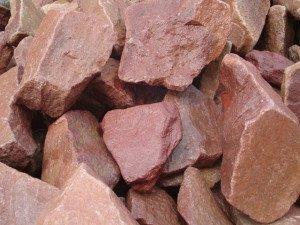 кварцит камень розовый
