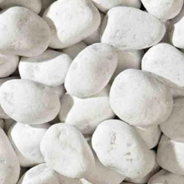 Белый камень галька Итальянская Каррара
