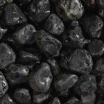 Мраморная черная галька Эбон