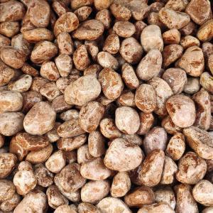 Галька коричневая мароне